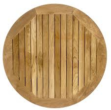 round outdoor real teak table top