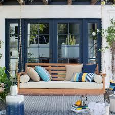 Outdoor Porch Swing Impressive Patio Image Ideas Cushions