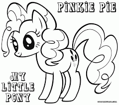Small Picture Coloring Pages My Little Pony Pinkie Pie Coloring Page Free