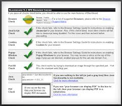 Browser Compatibility Blackboard Student Support