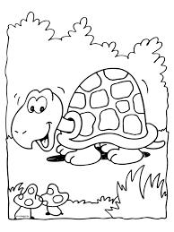 Kleurplaat Schildpad Maakt Wandeling Kleurplatennl