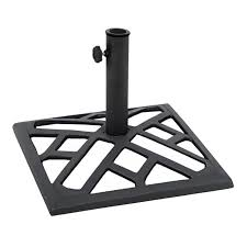 9kg metal square umbrella base black
