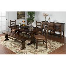 santa fe dining table and chairs. sunny designs 1235dc santa fe trestle table w slate dining and chairs a