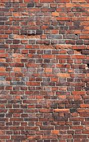 red old brick wall background by