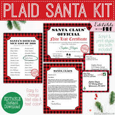 The selection of printable templates for certificates gives you ample choices for the award you want to present. Editable Santa Letter Printable Nice List Certificate Digital Buffalo Plaid Christmas Mail Kids From North Pole Reusable Pdf Template Cam By Madi Loves Kiwi Printables Shop Catch My Party