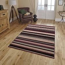 flair element canterbury purple black striped rug