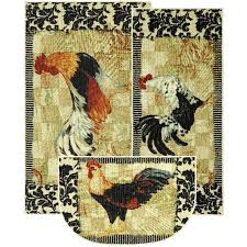 rooster rugs kitchen ideas round rooster rugs