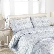 paoletti etoille toile de jouy 100 cotton 200 thread count duvet cover set blue single linens limited