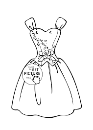 Wedding Dress Coloring Pages Printable At Getdrawingscom Free For