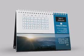 desk calendar template 2017