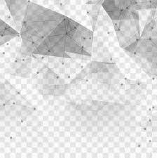 Transparent Pattern Unique Polygonal Technological Elements On A Transparent Background Vector