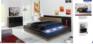 modern platform bed with lights. Ask A Question. Modern Lola Brown Veneer \u0026 Black Lacquer Platform Bed With Lights T