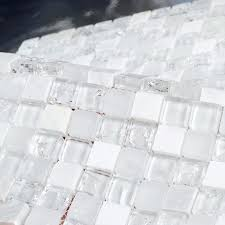 glass stone mosaic tile white stone mixed ice le clear glass mosaic bathroom mosaic tiles white glass stone mosaic tile