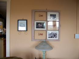 Old Window Frame Decor Old Window Painting Ideas An Old Window Frame Painted And Then