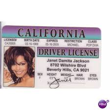 Jackson Card Photo Novelty Fun United States Control License On Ebid Janet Rhythm Nation 64424141 Nasty Drivers