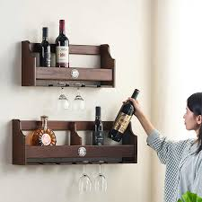 If you're looking for unique wine decorations look no further! Hanging Wine Bottle Holder Rack Support For Champagne Goblet Glass Metal Wall Decor Shelf Wine Organizer Hanger Wine Racks Aliexpress