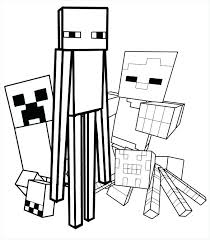 Printable Minecraft Creeper Coloring Pages Printable Coloring Pages