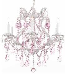 pink chandelier lighting. White Wrought Iron Crystal Chandelier With Pink Traditional Chandeliers Lighting