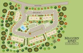 site map of grounds at malvern lakes in fredericksburg va