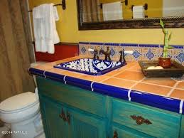 eclectic full bathroom with mexican