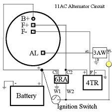 lucas bosch denso alternator wiring schematic bosch alternator requires minimal wiring changes