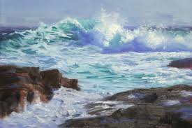 step 2 seascape oil painting by andy dolphin