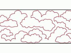Groovy Board - 10in. Lofty Clouds Quilting Template & Lofty Clouds Quilting Template Adamdwight.com
