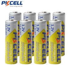 Интернет-магазин 8 шт./лот <b>PKCELL AA</b> батареи Ni-MH 2A ...