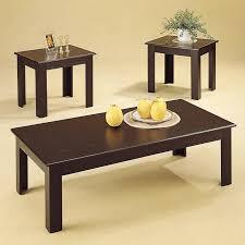 Great Acosta Black Wood Coffee Table Set Nice Design