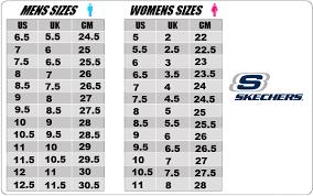 Skechers Shoes Chart