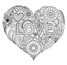 Color In Heart Valentines Heart Coloring Pages Valentine Heart