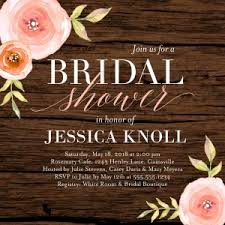 bridal shower invitation wording and etiquette shutterfly Wedding Invitations Where To Put Registry a woodgrain bridal shower invitation wedding invitations where to put registry