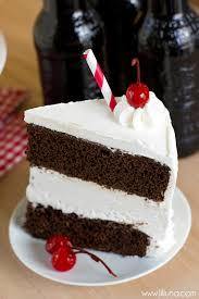 chocolate cake with vanilla ice cream. Brilliant Cake Delicious Root Beer Float Ice Cream Cake Recipe On  Lillunacom   Super Moist Throughout Chocolate With Vanilla C