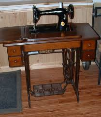 Treadle Singer Sewing Machine In Cabinet