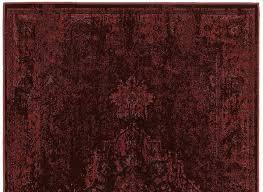 dark red runner rug worn style deep