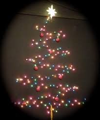 Wall Xmas Decorations My 3 D Wall Christmas Tree Diy 3 D Wall Light Christmas Tree