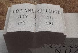 Corinne <i>Rutledge</i> Noah   Rutledge, Corinne, Find a grave