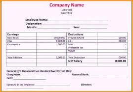 Employee Salary Slip Sample Stunning 48 Blank Wage Slip Template Excel Uk Free Payslip Word Salary Awe