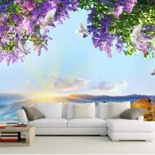 custom mural 3d photo wallpaper flowers sky dove decoration painting picture 3d wall murals wallpaper for