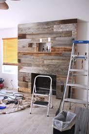 Best 25 Reclaimed Wood Fireplace Ideas On Pinterest Wood