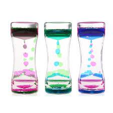 BESTOMZ 3pcs <b>Double Colors Oil Hourglass</b> Liquid Motion Bubble ...