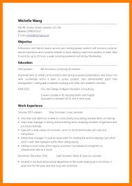 No Experience Resume Sample Resume Templates Resume For Study