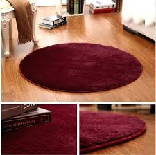circular rug round rugs floor mats rag carpet yoga pet mat non slip fluffy red area unusual round red rug