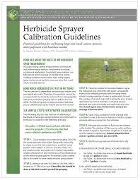 Boom Sprayer Calibration Chart Herbicide Sprayer Calibration Guidelines Techline Invasive