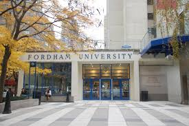 fordham college logo. fordham bans students for justice in palestine college logo