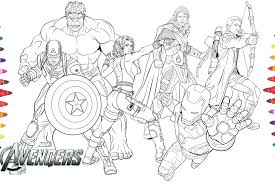 Avengers Coloring Page Avengers Coloring Pages Avengers Coloring