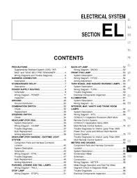 2000 nissan sentra electrical system section el pdf manual 2000 nissan sentra electrical system section el 350 pages