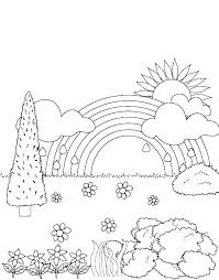Free Rainbow Coloring Pages Coloring Pages Rainbow Coloring Picture