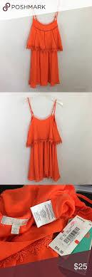 Nwt Gianni Bini Gb Orange Dress Beautiful Bright Orange