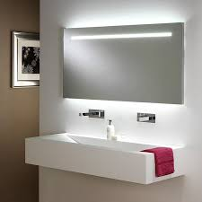 Image of: Lighted wall mirror led